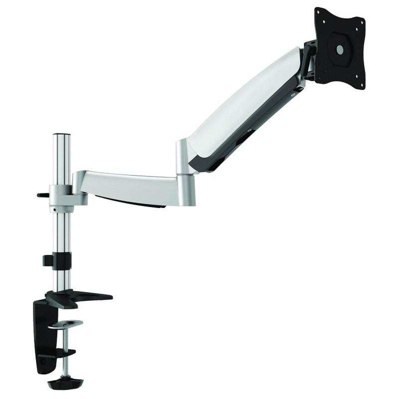 "Q-Tee QDT04-C012 13""-27"" Single Monitor Polished Aluminium Desk Mount"