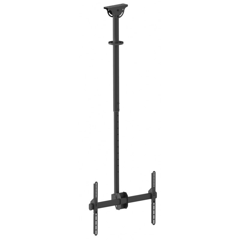 "Q-Tee QLB-CE946-01L 40""-70"" TV Single Display 1-2m Adjustable Ceiling Mount"