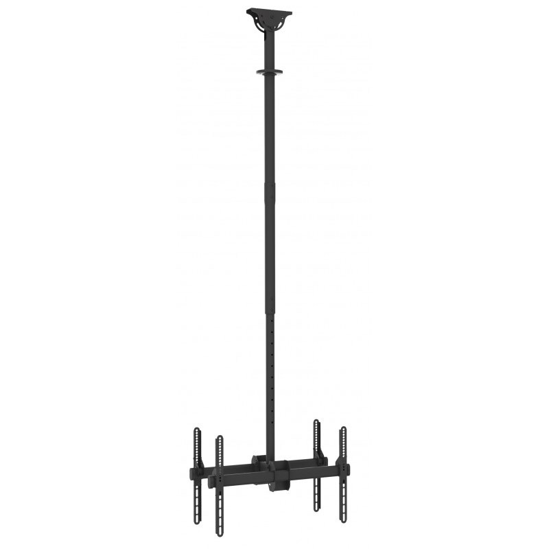 "Q-Tee QLB-CE946-01LD 40""-70"" TV Dual Display 1-2m Adjustable Ceiling Mount"