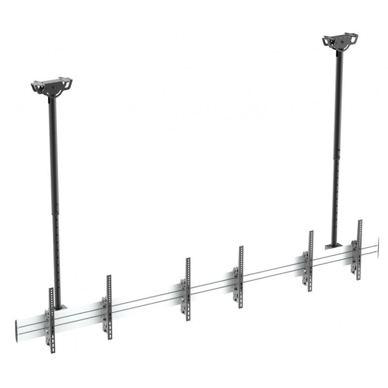 "Q-Tee QVC02-346TL-02 40""-55"" TV Commercial Linear Array Menu Board Ceiling Mount"