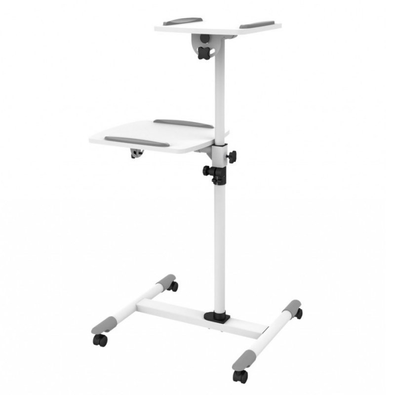Q-Tee TS-6A Universal Flexible Projector & Laptop Trolley Stand