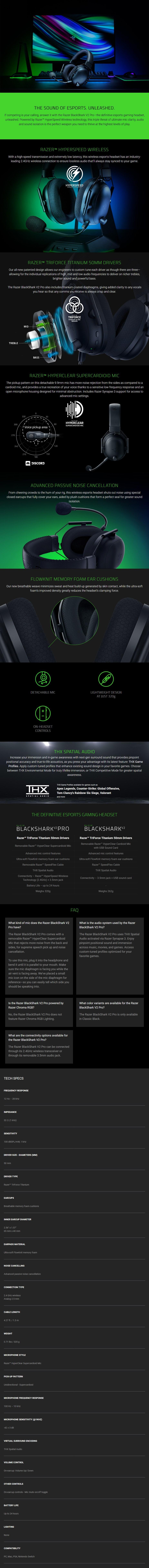 Razer BlackShark V2 Pro Wireless Gaming Headset - Overview 1