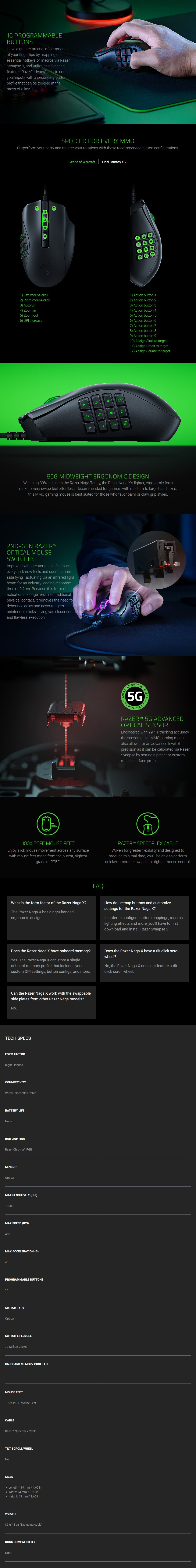 Razer Naga X MMO Optical Gaming Mouse - Overview 1