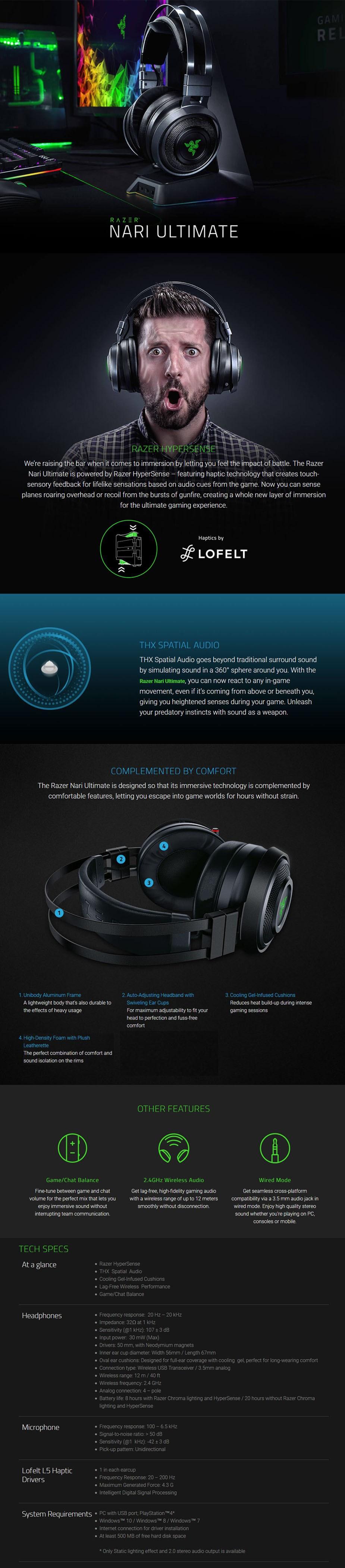 Razer Nari Ultimate Wireless Gaming Headset  - Overview 1