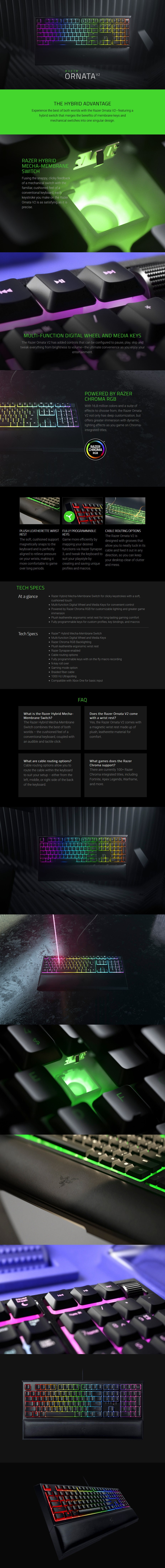 Razer Ornata V2 RGB Mem-chanical Gaming Keyboard - Overview 1