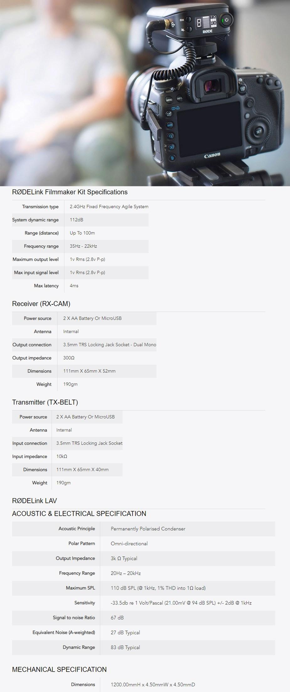 RODELink Filmmaker Wireless Microphone Kit - Overview 1