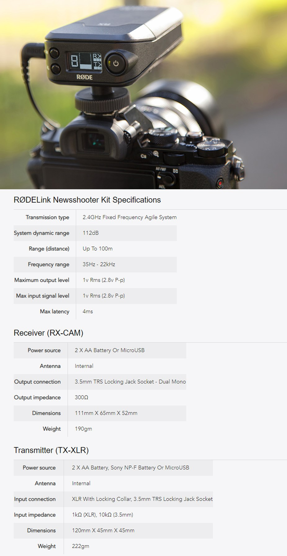 RODELink Newsshooter Wireless Microphone Kit - Overview 1