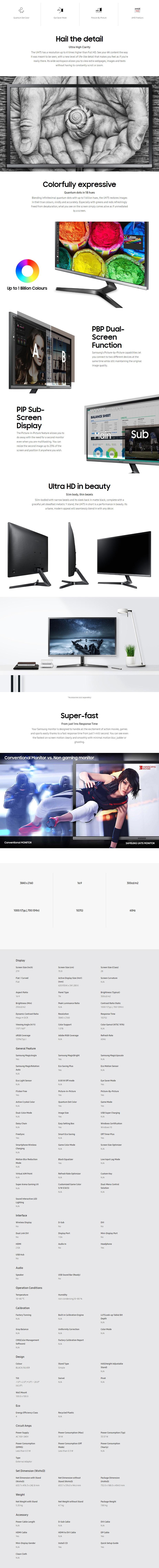 "Samsung LU28H750U 28"" 4K UHD Quantum Dot FreeSync Monitor - Overview 1"