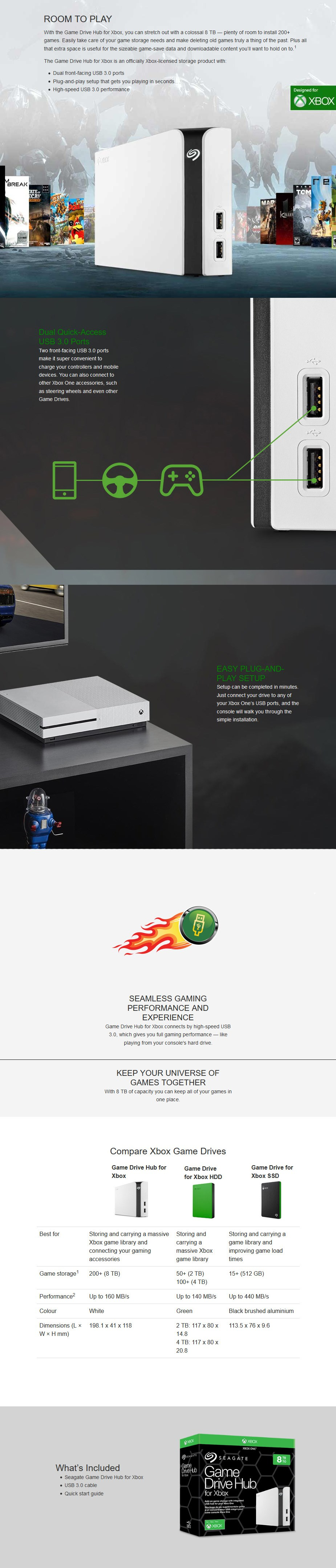 Seagate 8TB Game Drive Hub for Xbox - Overview 1