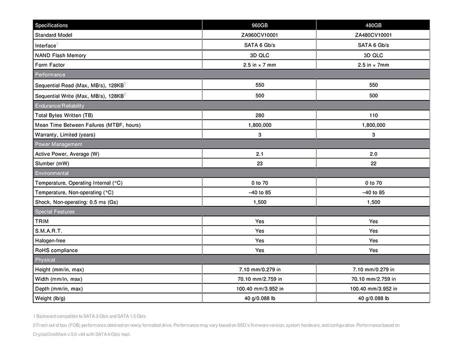 """Seagate BarraCuda Q1 960GB 2.5"""" SATA SSD - ZA960CV1A001 - Overview 1"""