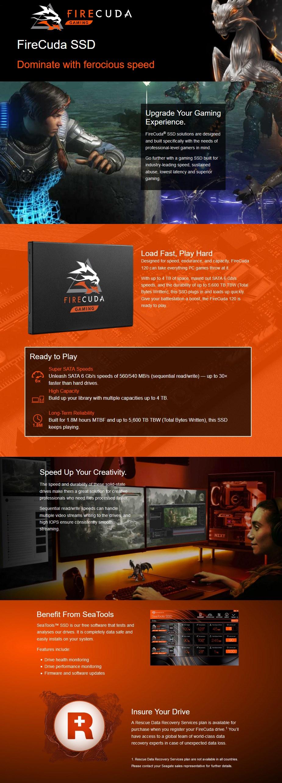 """Seagate FireCuda 120 2TB 2.5"""" SATA SSD - ZA2000GM1A001 - Overview 1"""