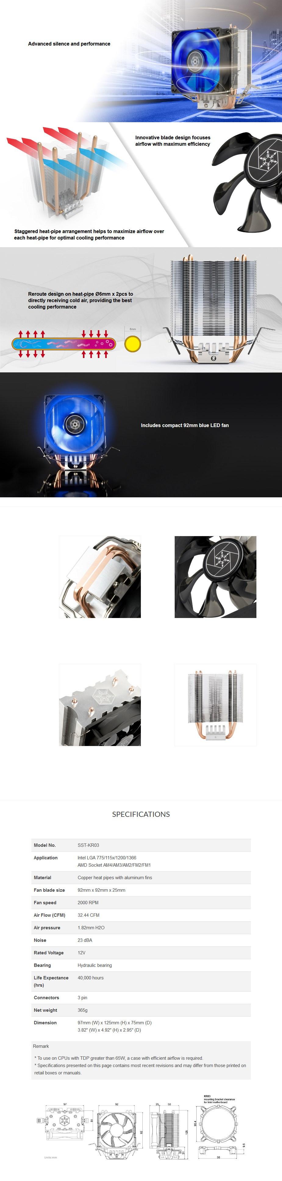 SilverStone KR03 CPU Air Cooler - Overview 1
