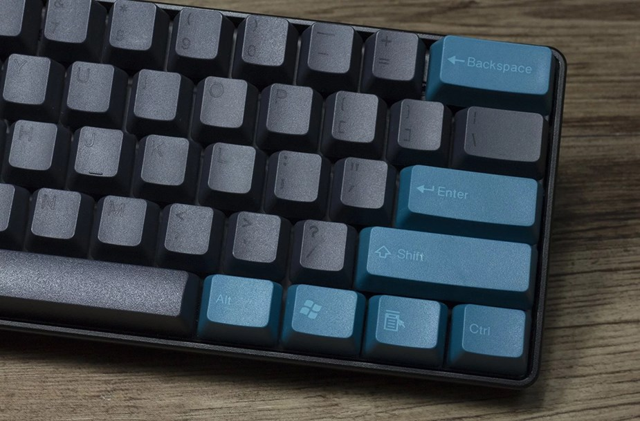 Tai-Hao MX Switch Doubleshot PBT 104-Key ANSI Keycap Set - Midnight Green/Black - Overview 3