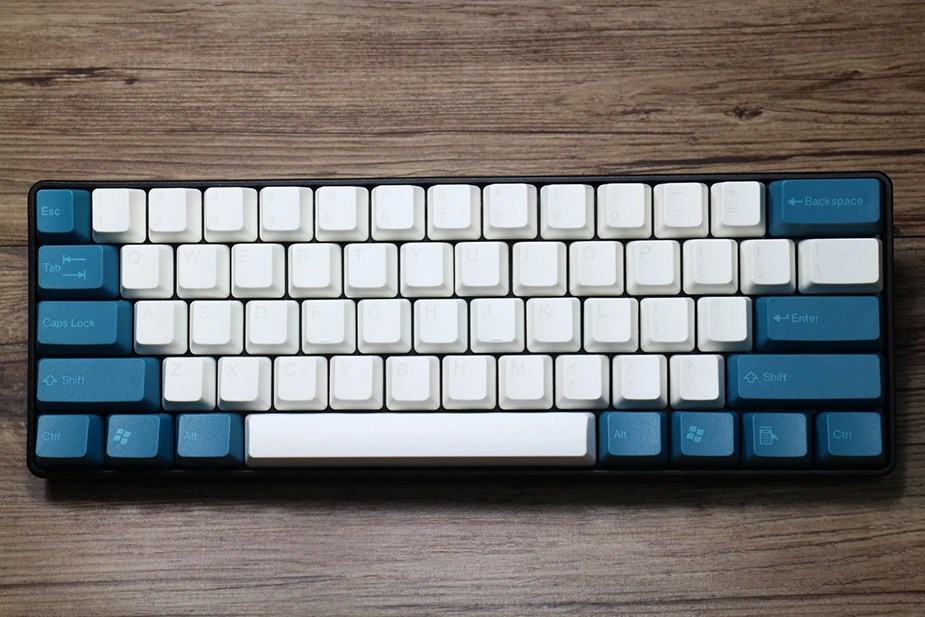 Tai-Hao MX Switch Doubleshot ABS 104-Key ANSI Keycap Set - Midnight Green/White - Overview 4