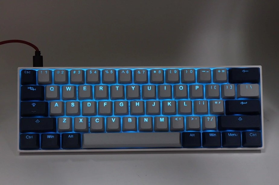 Tai-Hao MX Switch Type Doubleshot PBT 104-Key ANSI Keycap Set - Cool Gray/Navy - Overview 3