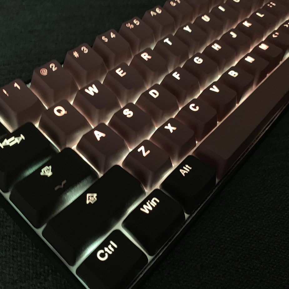 Tai-Hao MX Switch Type Doubleshot PBT 104-Key ANSI Keycap Set - Cream/Dim Grey - Overview 3
