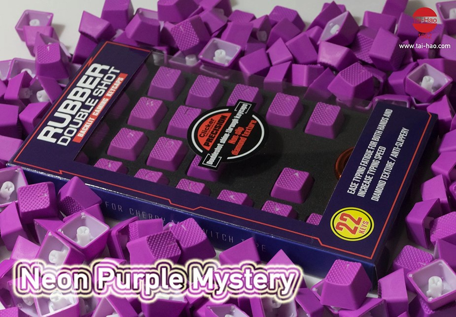 Tai-Hao MX Switches 22-Key Rubberized Gaming Keycap Set - Purple Mystery - Overview 1