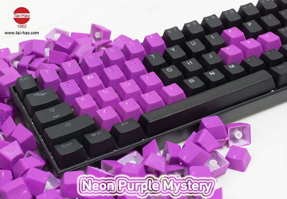 Tai-Hao MX Switches 22-Key Rubberized Gaming Keycap Set - Purple Mystery - Overview 2