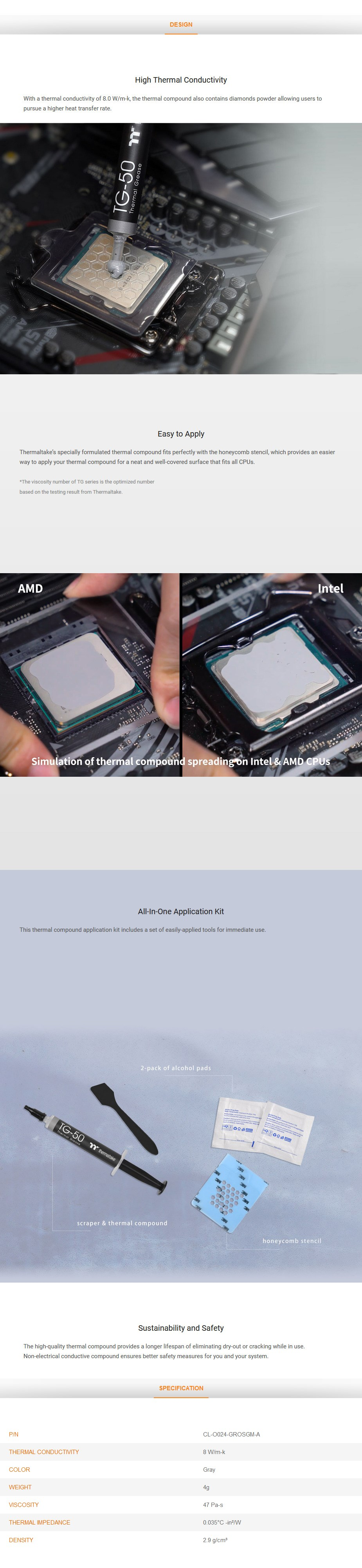 Thermaltake TG-50 Thermal Compound 4g - Desktop Overview 1