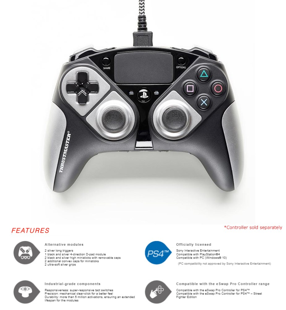 Thrustmaster eSwap Pro Controller Colour Pack - Silver - Overview 1