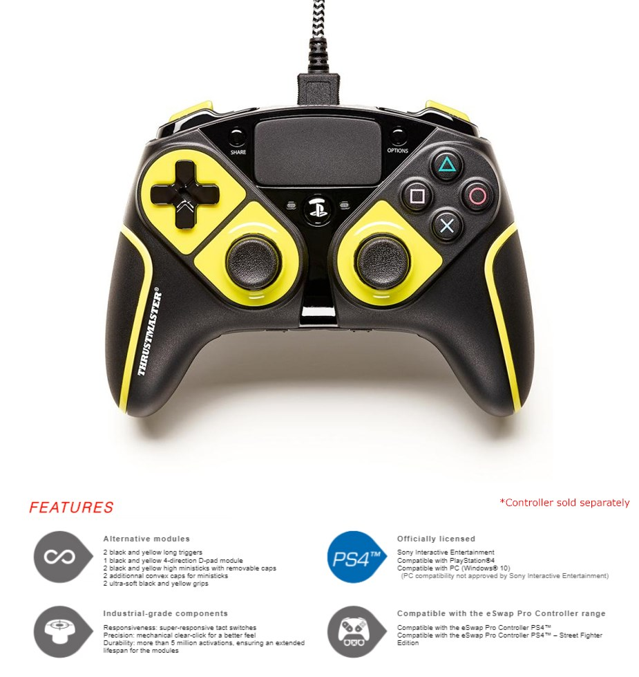 Thrustmaster eSwap Pro Controller Colour Pack - Yellow - Overview 1