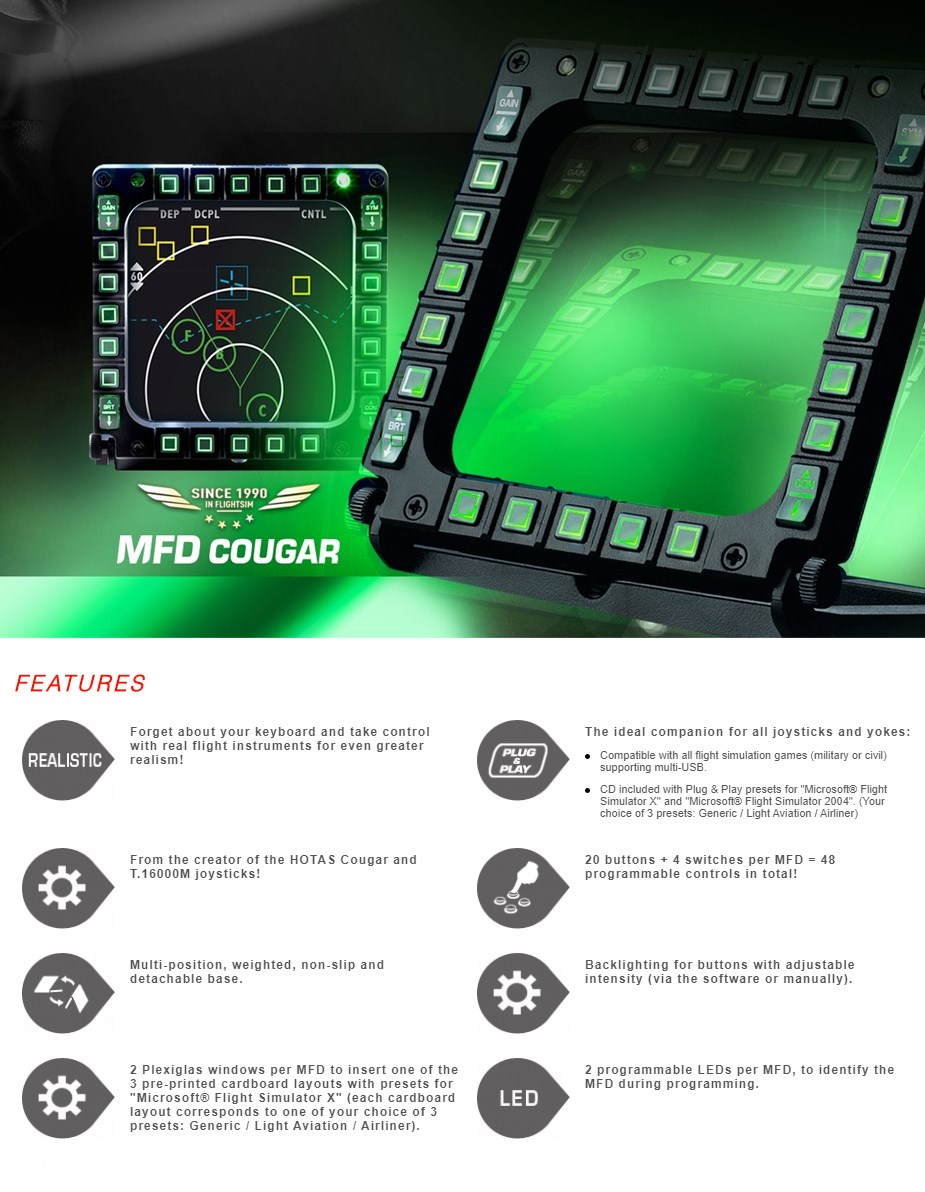 Thrustmaster MFD Cougar Pack For PC - Overview 1