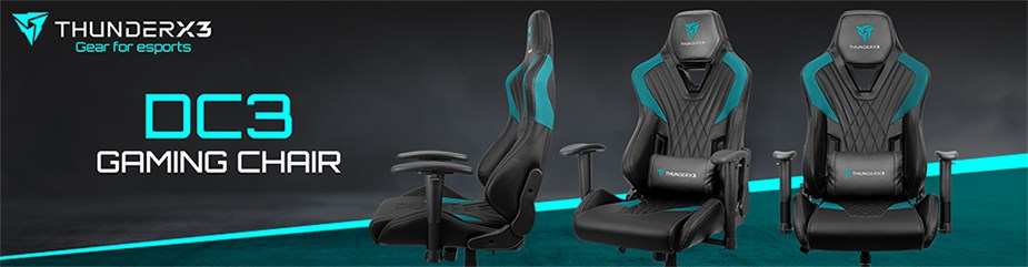 ThunderX3 DC3 Series Gaming Chair - Black - Overview 1