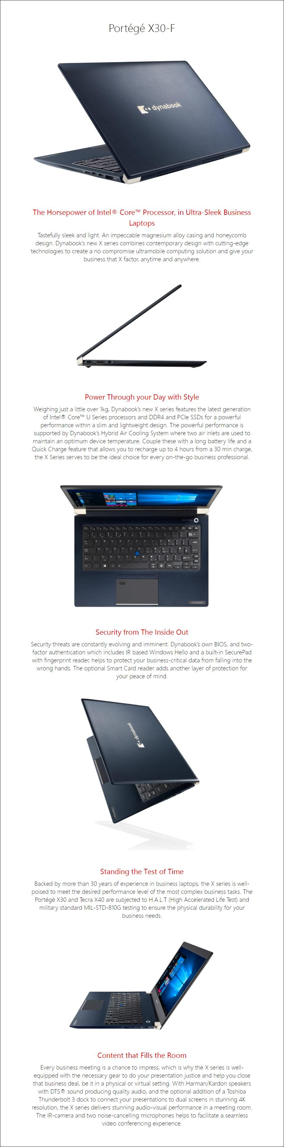 """Toshiba dynabook Portege X30-F 13.3"""" Laptop i5-8265U 8GB 256GB W10P - Overview 1"""