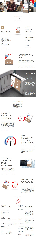 "Toshiba N300 HDWG160UZSVA 6TB 3.5"" 7200RPM SATA3 NAS Hard Drive - Overview 1"