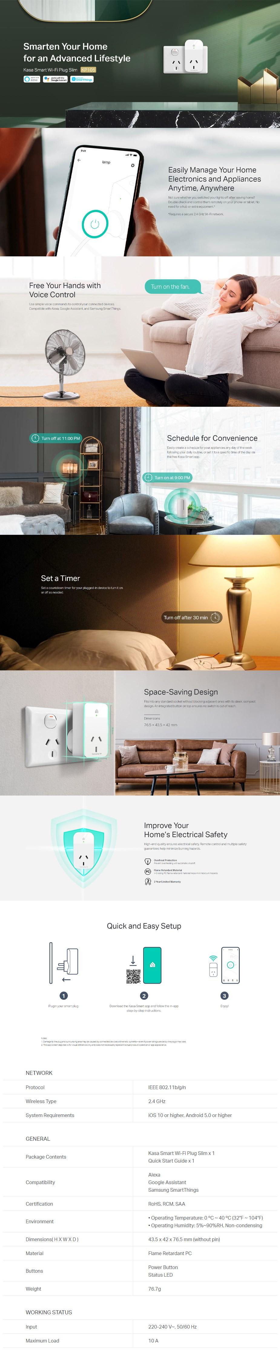 TP-Link Kasa KP105 Smart Wi-Fi Plug Slim - Overview 1