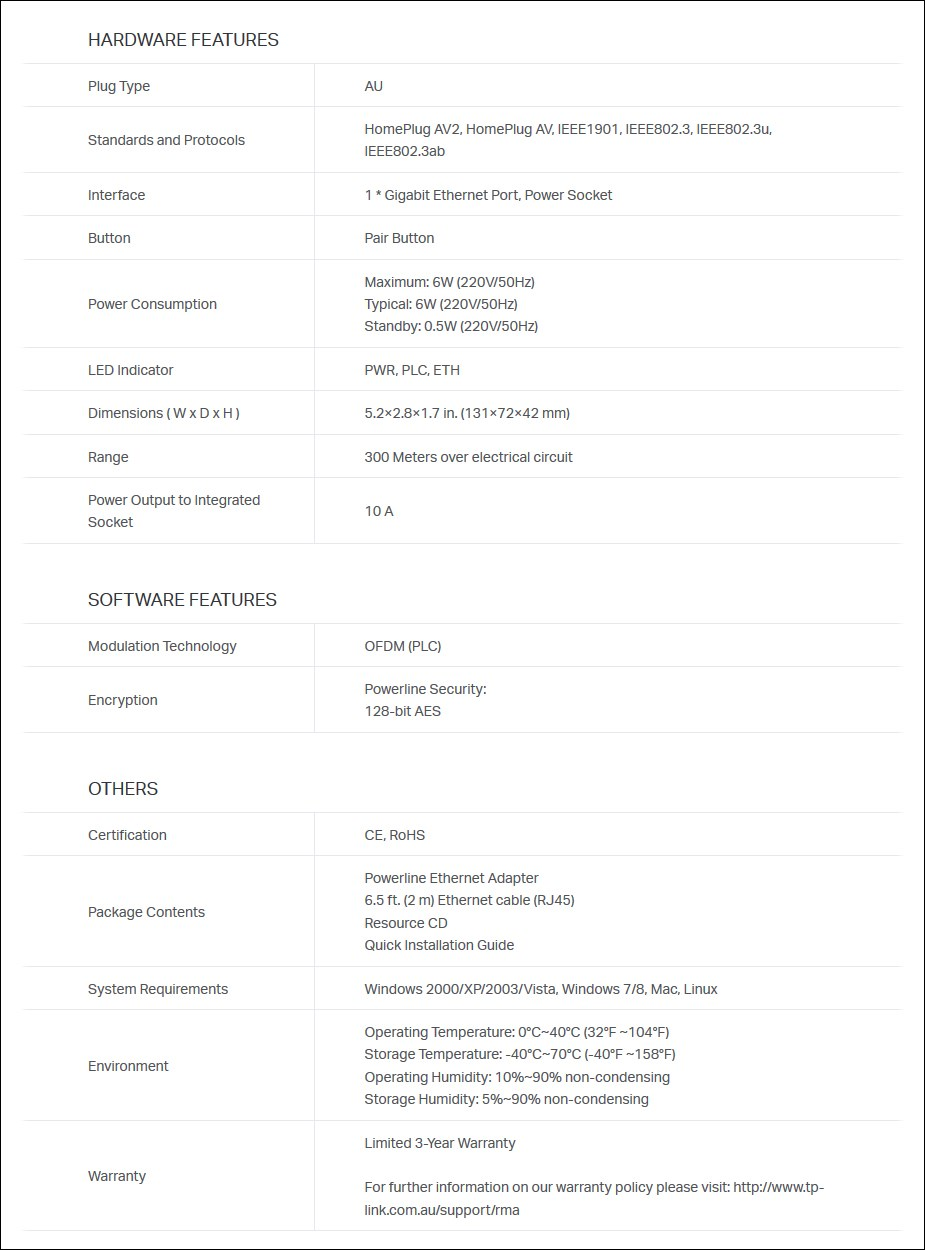 TP-Link TL-PA8010PKIT AV1200 Gigabit Passthrough Powerline Starter Kit - Overview 2