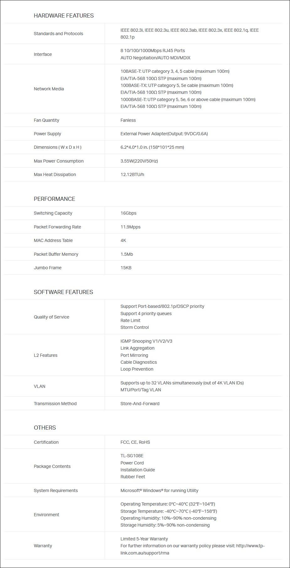 TP-Link TL-SG108E 8-Port Gigabit Easy Smart Switch - Overview 2
