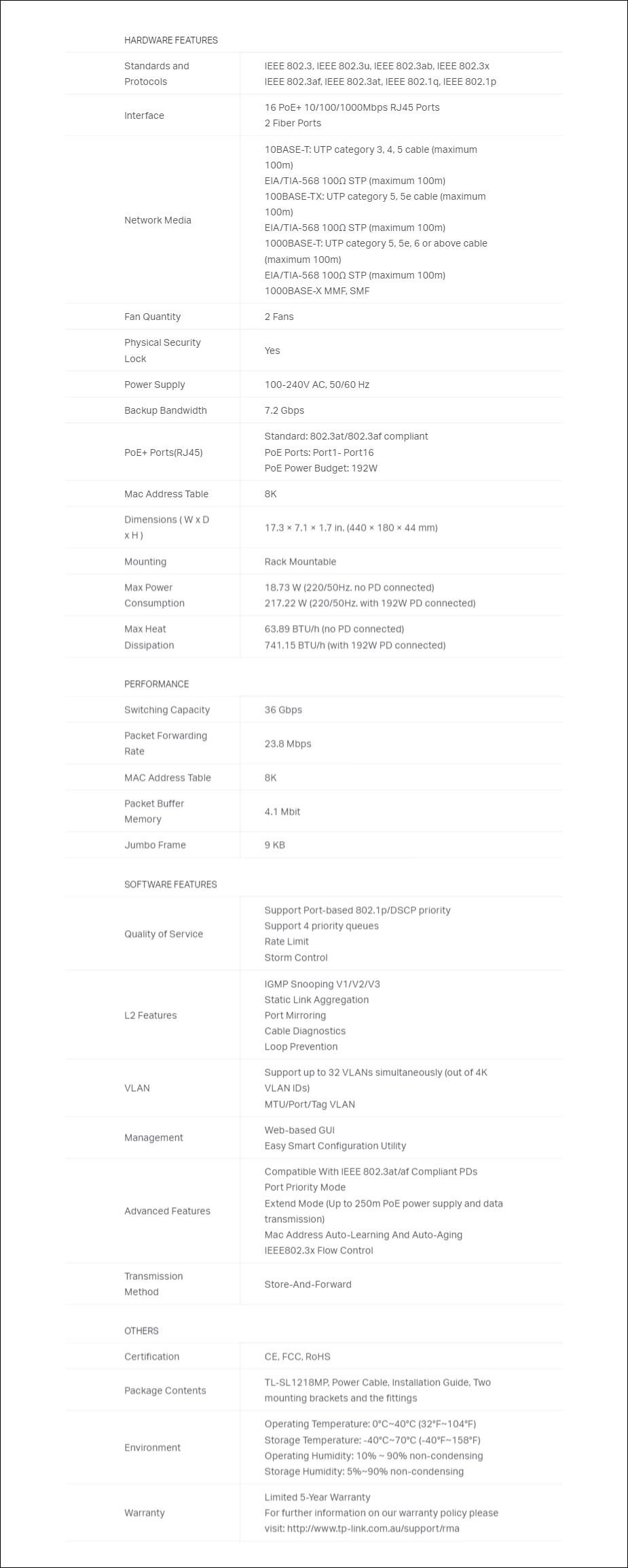TP-Link JetStream 16-Port Gigabit Easy Smart PoE/PoE+ Switch - Overview 2