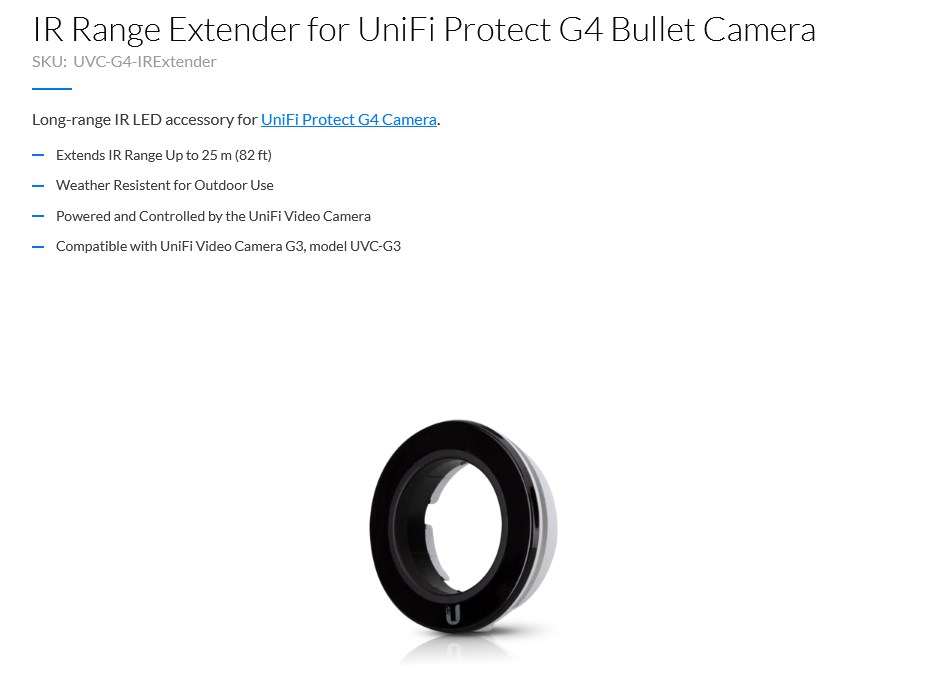 Ubiquiti Networks IR Range Extender for UniFi Protect G4 Bullet Camera - Overview 1
