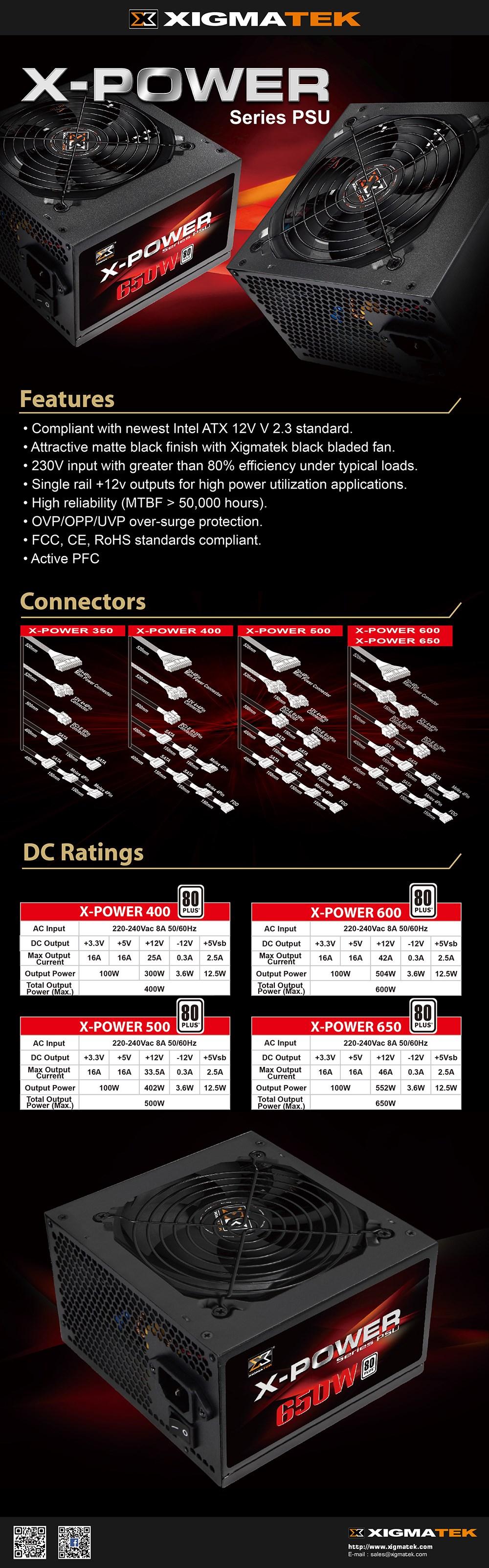 Xigmatek X-Power 700W 80+ Non-Modular Power Supply - Overview 1