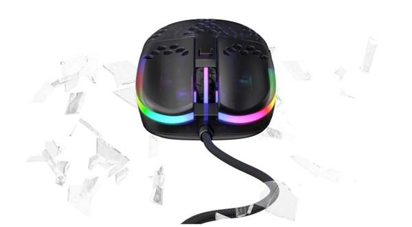 Xtrfy MZ1 Zy's Rail RGB Optical Gaming Mouse - Black - Desktop Overview 4