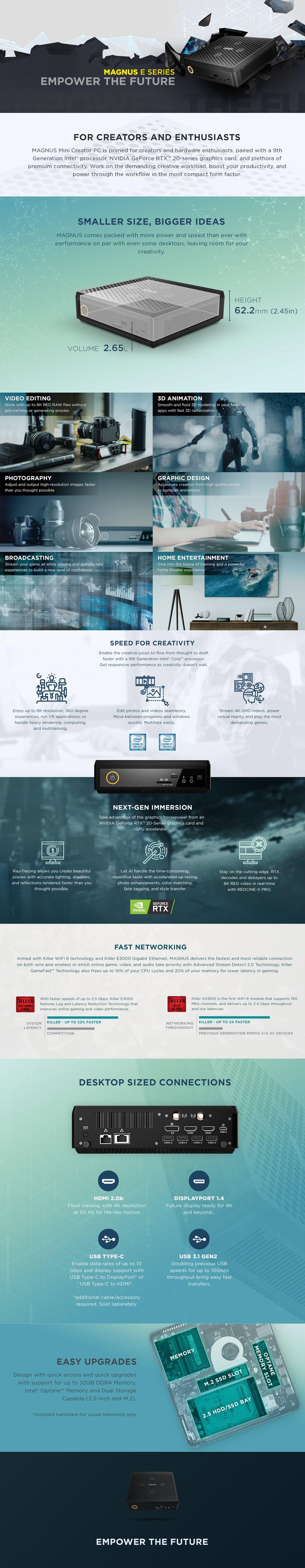 Zotac ZBOX EN72070V Barebone Mini PC - i7-9750H RTX2070 - Overview 1
