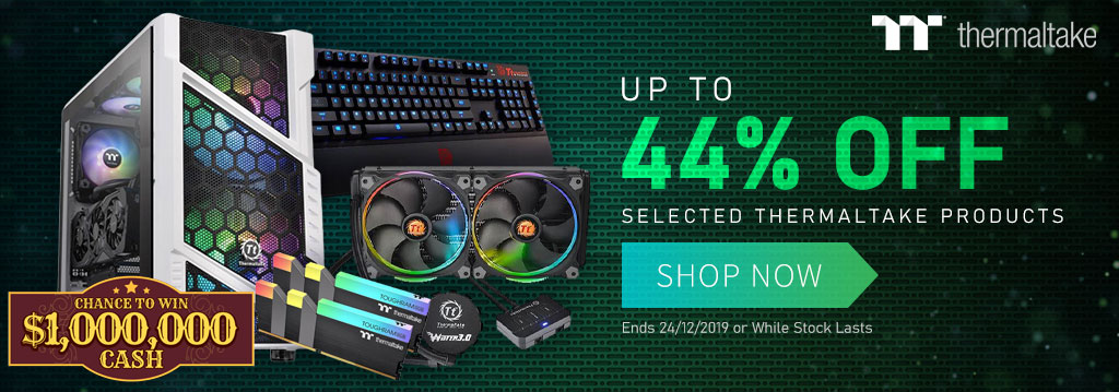 Thermaltake products up to 44 percent off