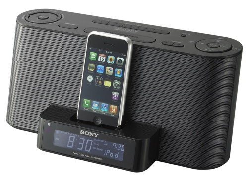 sony icfc1ipmk2bc ipod docking clock radio alarm ipod iphone remote contro icfc1ipmk2bc. Black Bedroom Furniture Sets. Home Design Ideas